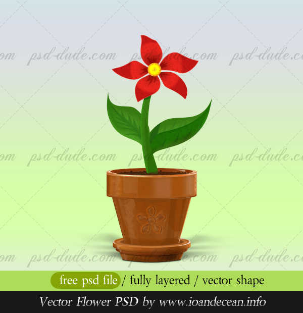 Flower PSD Vector