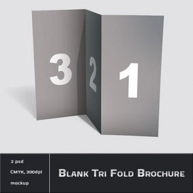fold brochure psd free template psddude