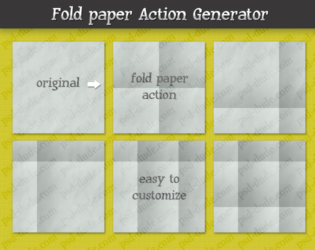 Fold Paper Photoshop Action