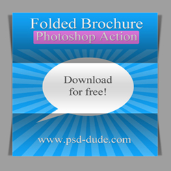 Fold Paper Photoshop Action psd-dude.com Resources