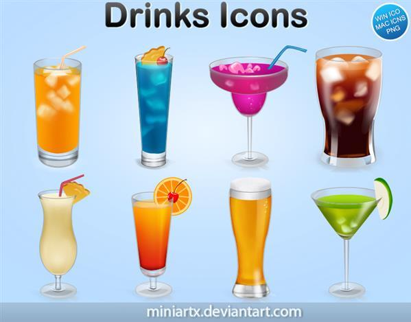 Drinks and Cocktails Icons