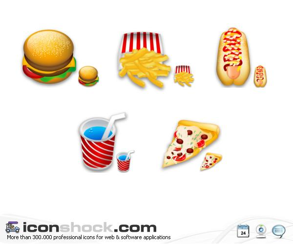 Food Icons by Iconshock photoshop resource collected by psd-dude.com from deviantart