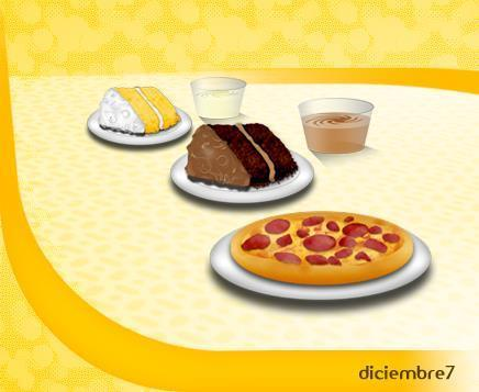 Italian pizza and cake icons
