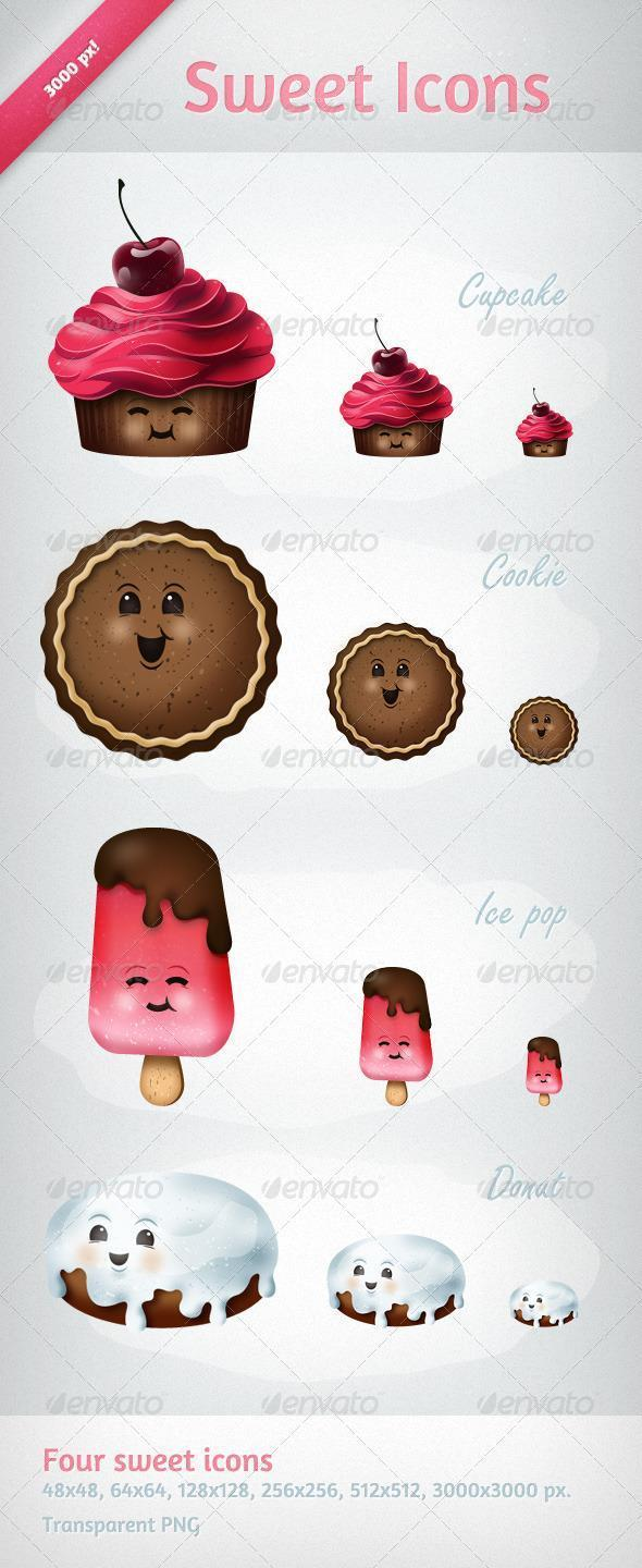 Sweets Icons PNG