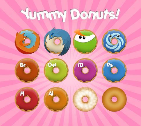 Yummy Donuts Icons
