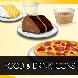 Food and Drink Icons Pack Collection psd-dude.com Resources