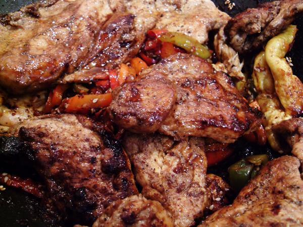 Cooked Pork Meat Texture