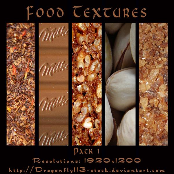 Food Textures Pack 1 by BFstock photoshop resource collected by psd-dude.com from deviantart
