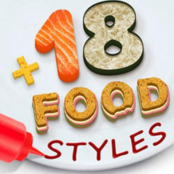 100 Delicious Food Photoshop Styles psd-dude.com Resources