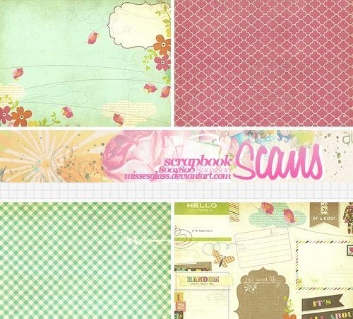 100 Scrapbook backgrounds and textures