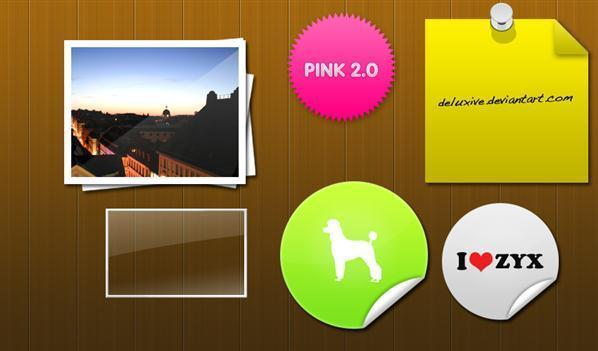 50 Sticker PSD photoshop files