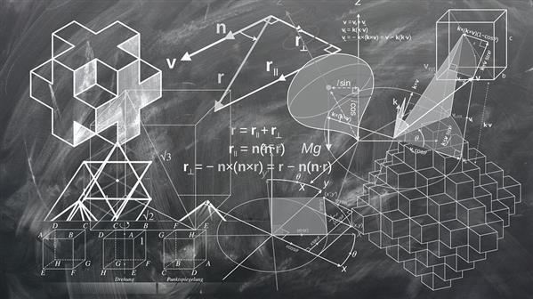 Geometry mathematics chalkboard Background