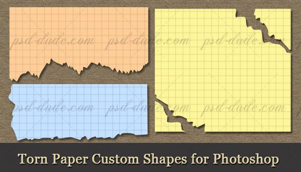 Torn paper vector shapes for photoshop