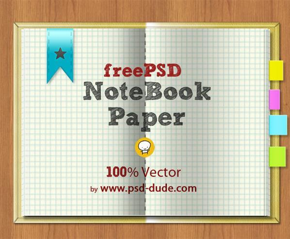 Vector school notebook free psd