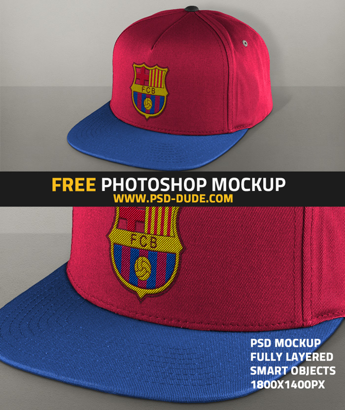 free embroidered baseball cap mockup PSD