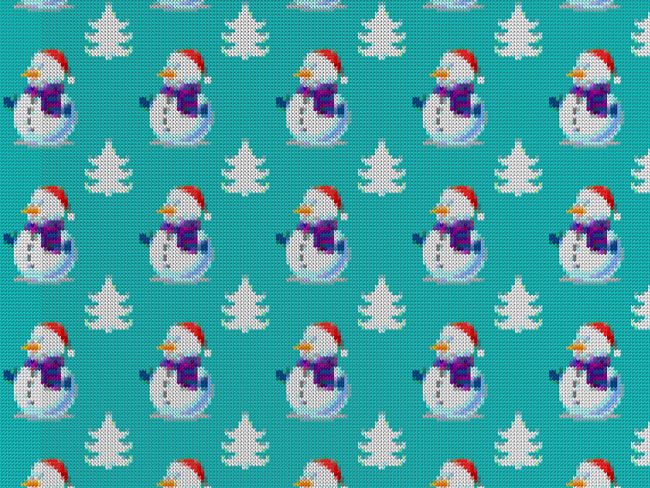 Seamless Christmas Sweater Background
