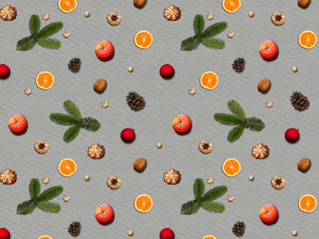Seamless Food Christmas Background