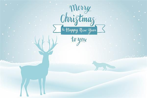 Merry Christmas Festival Greeting Background