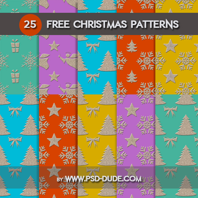 Free Christmas Gift Patterns For Photoshop