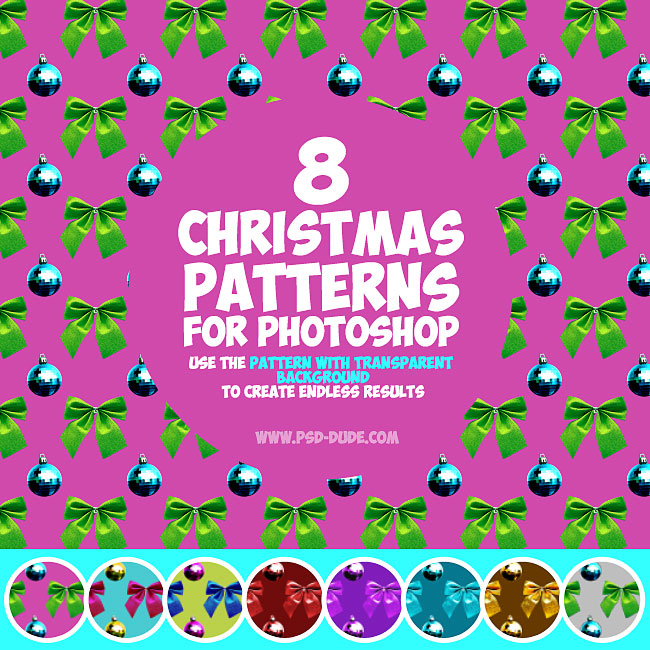 Christmas Ornament Photoshop Patterns