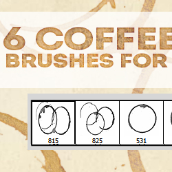 6 Coffee Cup Stain Brushes for Photoshop psd-dude.com Resources