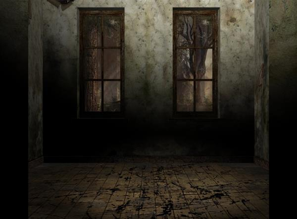 Abandoned room horror background for Photoshop