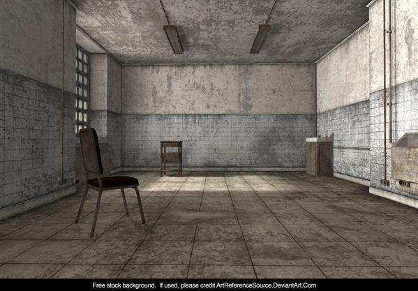 Free Stock Grungy room 3D Render