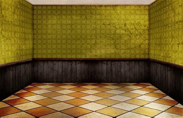 Room empty interior with floor tiles stock image