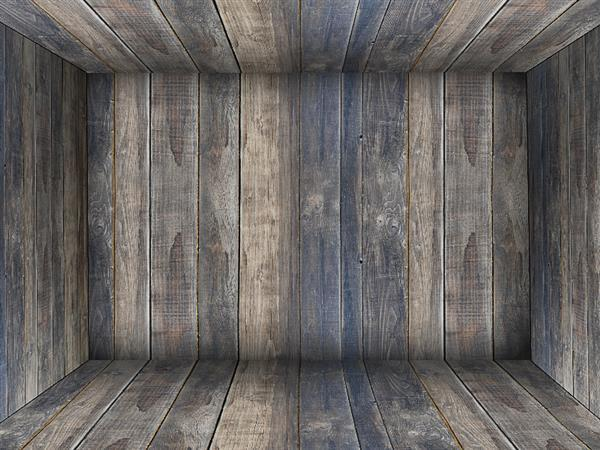 Wood room interior background for photoshop
