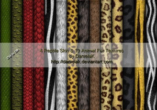 Reptile Skins and Animal Fur Texture Free Pack
