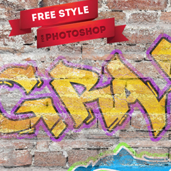 Graffiti Photoshop Text Style Freebie psd-dude.com Resources