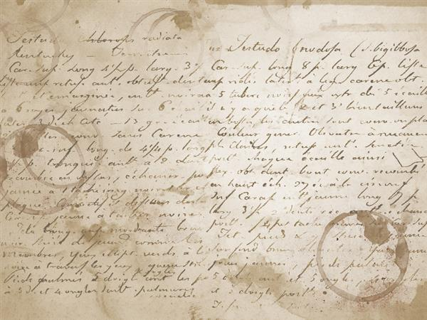 Old Manuscript Texture with coffee stained paper