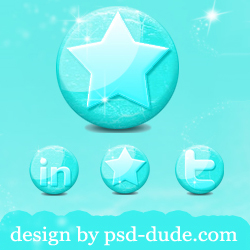 Free Glossy Ice Social Media Icons for the Winter Season from psd-dude.com