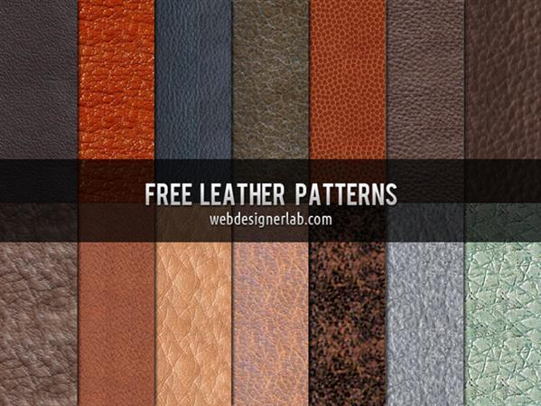 Free Leather Skin Tileable Patterns for Photoshop