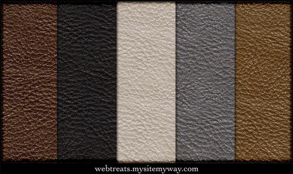 Free Tileable Leather Patterns for Photoshop
