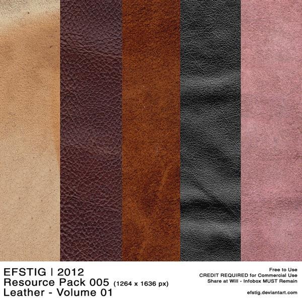 Leather Photoshop Textures Free Pack