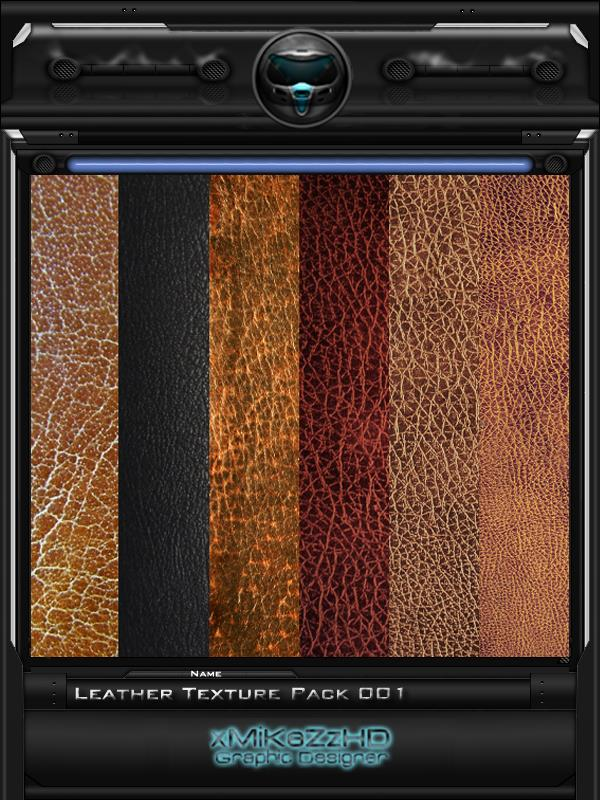 Leather Texture Pack 001 by xMiKeZzHD photoshop resource collected by psd-dude.com from deviantart