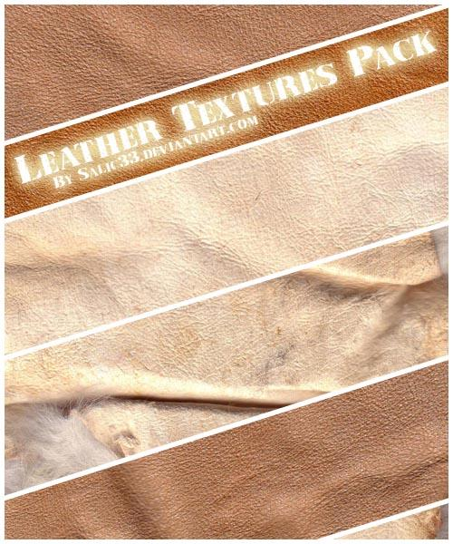 Leather Textures Pack by Salic33 photoshop resource collected by psd-dude.com from deviantart