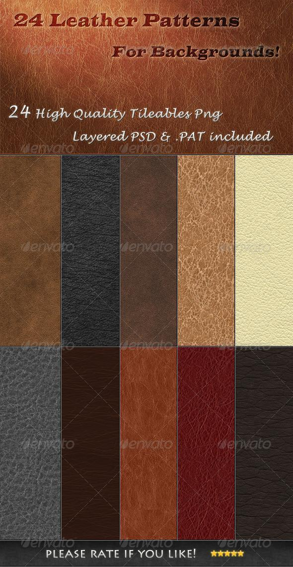 Tileable Leather Photoshop Patterns