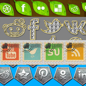 Free Social Media Icons psd-dude.com Resources