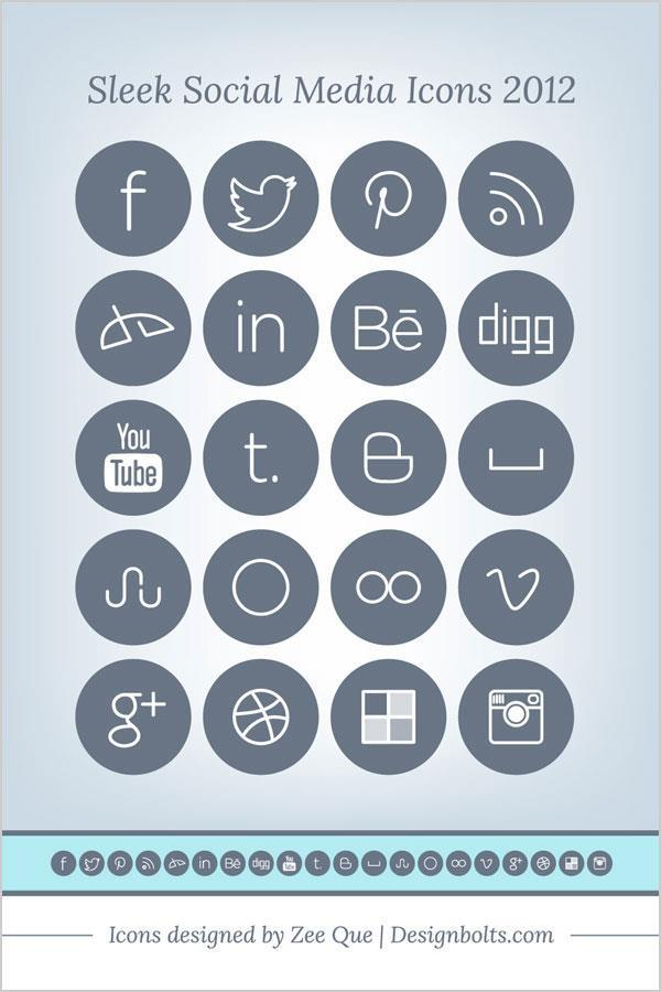 Flat Social Media Icons Pack Free To Download