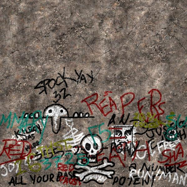 Concrete Wall with Graffiti Texture