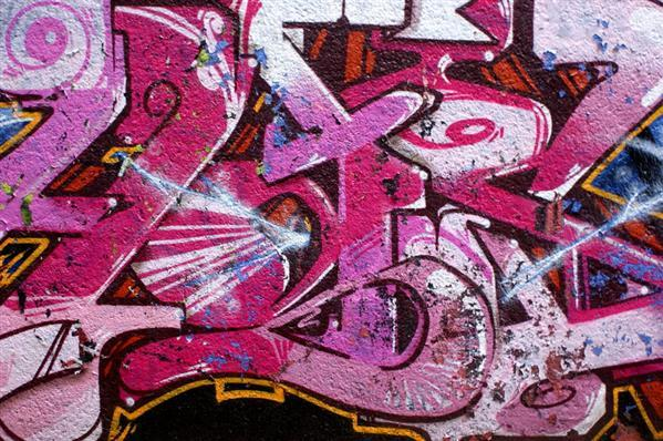 Pink Graffiti art