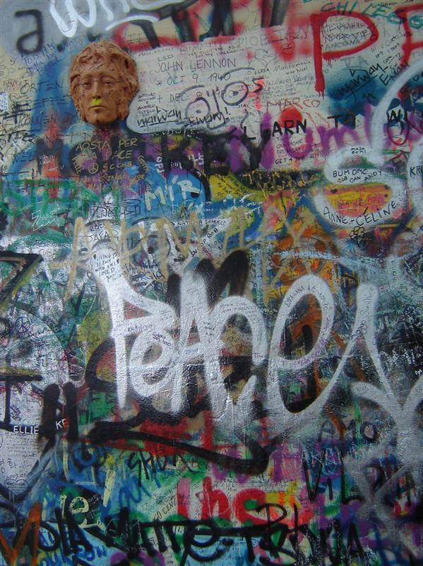 Prague Peace Graffiti Texture Wall