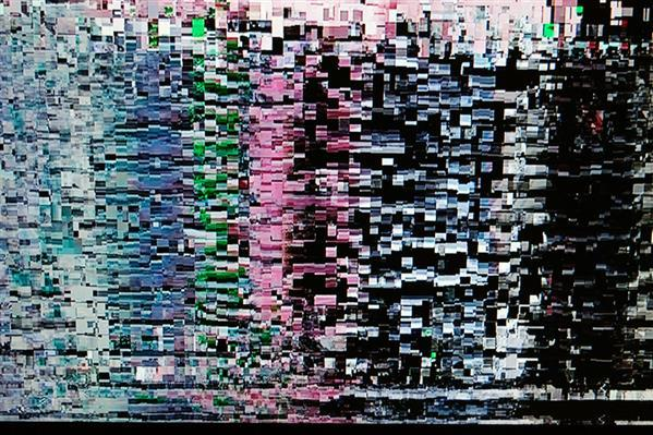Abstract Glitch Texture