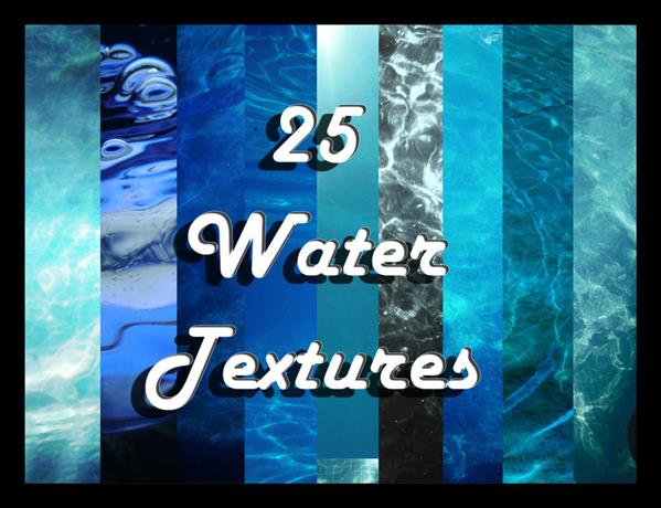 25 Water Textures by EvilHateYouAllStock photoshop resource collected by psd-dude.com from deviantart