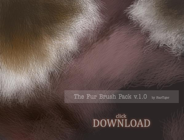Animal Hair and Fur Brushes Photoshop Pack