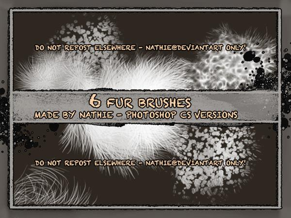 Fur Brushes by nathies-stock photoshop resource collected by psd-dude.com from deviantart