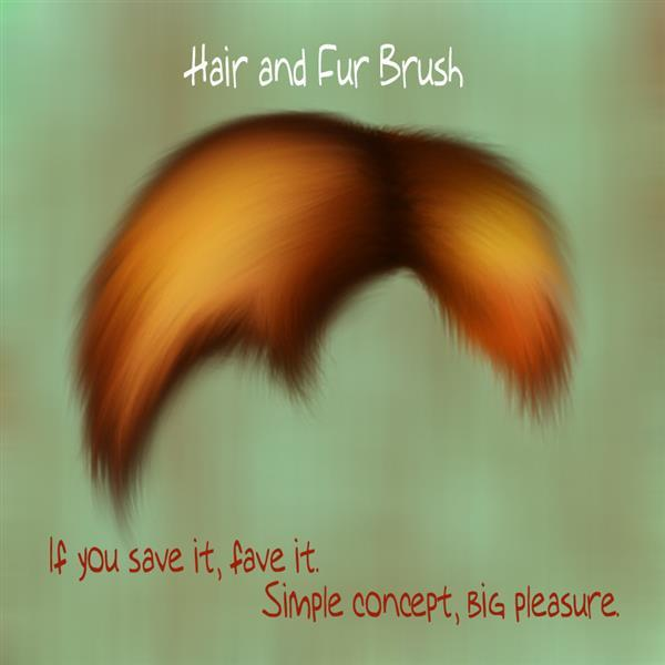 Hair and Fur Brush for Photoshop