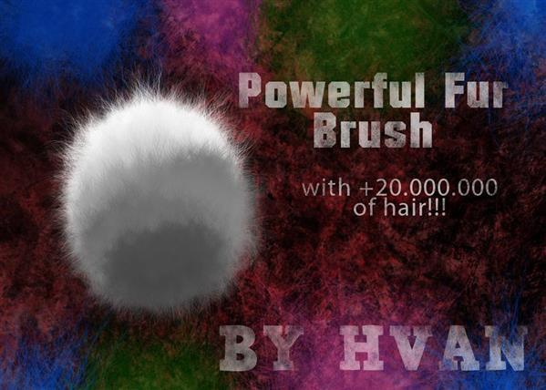 Painting Fur Brush for Photoshop